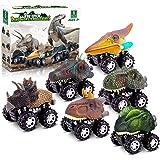 Dinosaur Toys for 3 Year Old Boys, Pull Back Dinosaur Toys for 5 Year Old Boy 6 Pack Set Car Toys for 4 Year Old Boys Christm