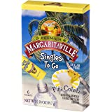 Margaritaville Singles To Go Water Drink Mix - Pina Colada Flavored, Non-Alcoholic Powder Sticks (12 Boxes with 6 Packets Eac