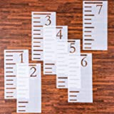 Tatuo 7 Feet Growth Chart Stencil Kids Height Growth Chart Reusable Ruler Template Painting on Wood Measuring Kids Height Wal