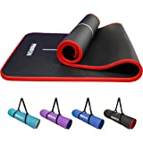PROIRON Yoga Mat Eco Friendly NBR All-Purpose 10mm Thick Non-Slip Exercise Mat High Density Anti-Tear Pilates Mat with Carryi