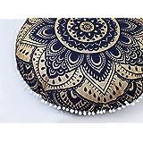 Popular Handicrafts Large Hippie Mandala Floor Pillow Cover - Cushion Cover - Pouf Cover Round Bohemian Yoga Decor Floor Cush