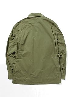 Twill Fatigue Shirt Blouson 51-18-0209-012: Green