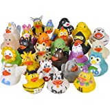 Kicko Alphabet Rubber Duck Toys - 26 Pack - Assorted Duckies for Kids Party Favors, on Birthdays, Baby Showers, All Time Favo