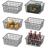 Wire Basket, Warmfill 6 Pack Wire Baskets for Storage Durable Metal Basket Pantry Organizer Storage Bin Baskets for Kitchen C