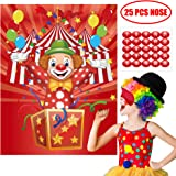 Happy Storm Carnival Games Pin the Nose on the Clown Party Games Carnival Party Supplies Favors Circus Theme Birthday Party D