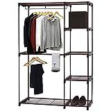 Simple Houseware Freestanding Clothes Garment Organizer Closet, Bronze