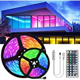 15M 20M 5050 RGB Led Strip Light DC12V RGB Flexible Tape Led Ribbon 5M 10M 25M 30M Led Strip Light with IR Remote for Christm