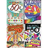 Bendon Advanced Coloring Book 4 Pack by Decades (50's, 60's, 70's and 80's)