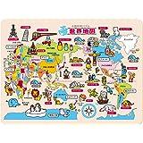木製知育パズル 世界地図