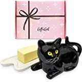 GIFTAGIRL Black Cat Gifts for Cat Lovers - Crazy Cat Lady Gifts or Cat Themed Gifts like Our Beautiful Butter Dish, are Great