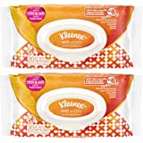 Kleenex Wet Wipes - Germ Removal - Thick & Soft - 20 Count Wet Wipes Per Package - Pack of 2 Packages