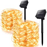 Outdoor Solar String Lights 2 Pack 100 LED 8 Modes Copper Wire Fairy Lights Waterproof Outdoor String Lights Indoor/Outdoor G