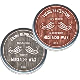 Mustache Wax 2 Pack - Beard & Moustache Wax for Men - Strong Hold Helps Train Tame & Style - Citrus & Sandalwood Scents- 0.5o