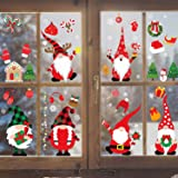 Joy Bang Christmas Gnome Window Clings Christmas Clings for Windows 8 Sheets Christmas Scandinavian Tomte Window Decals Stick