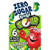 Kool-Aid Zero Sugar Sour Snappin' Green Apple Flavored Drink Mix (12 On-the-Go Packets)