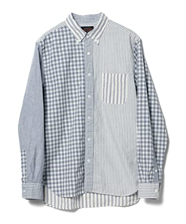 Indigo Crazy Pattern Buttondown Shirt 11-11-4013-139: White