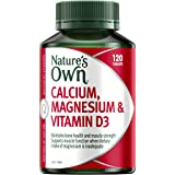 Nature's Own Calcium, Magnesium & Vitamin D3 - Maintains healthy muscle function - Helps to prevent osteoporosis, 120 Tablets