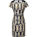 Women's Vintage Print Short Sleeves Round Neck A-Line Dress Casual Party Mini Dress