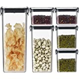 Cereal Container Set Food Storage Containers - Shopwithgreen Airtight Dry Food Storage Jars Set of 6, Kitchen & Pantry Organi