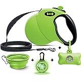 Ruff 'n Ruffus Retractable Dog Leash with Free Waste Bag Dispenser and Bags + Bonus Bowl   Heavy-Duty 16ft Retracting Pet Lea