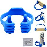Honsky Universal Flexible Thumb Smartphone Stand Holder - Blue