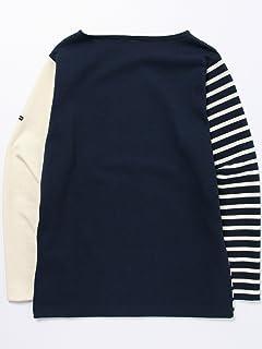 Crazy Pattern Boatneck Shirt 51-14-0138-012: Marine