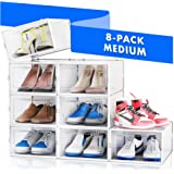 NEATLY Shoe Organizer Shoe Storage - Shoe Boxes Clear Plastic Stackable, Plastic Shoe Box. Sneaker Shoe Containers, Shoes Org