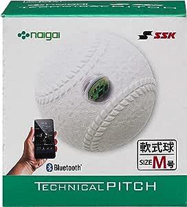 SSK(エスエスケイ) テクニカルピッチ 軟式 M号球 TP002M 投球測定 Bluetooth接続