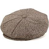 (ニューヨークハット) NEW YORK HAT キャスケット ハンチング ツイード ネップ 秋冬