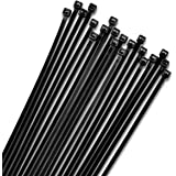 12 inch Zip Ties Black (100 Pack) 40lb Strength Nylon Cable Wire Ties by Bolt Dropper.