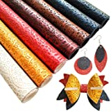 (Mechanical) - SHUANGART Embossed Faux Leather Sheets for Earrings Making, 7 Pcs A4 Size Synthetic Fabric for DIY Bows Jewell