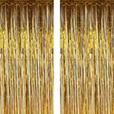 Twinkle Star Photo Booth Backdrop Metallic Tinsel Foil Fringe Curtains Environmental Background for Birthday Wedding Party Ch