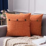MIULEE Pack of 2 Decorative Lumbar Throw Pillow Covers Farmhouse Style Linen Cushion Cases Vintage Decor Beige Pillow Cases f