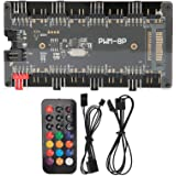 Two‑in‑One Controller PWM+ARGB Controller, RGB Synchronization Function ABS + PCB Material Case Fan Remote Controller, for DI