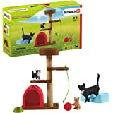 Schleich Farm World 9-piece Playtime for Cute Cats Animal Toys Set for Kids Ages 3-8