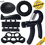 ProHand Premium Quality Hand Grip Strengthener Exercise Set - Adjustable Resistance Hand Gripper 5-60 KG, Finger...
