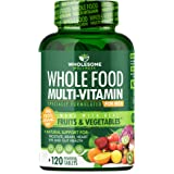 Whole Food Multivitamin for Men (120 Tablets) - Natural Multi Vitamins, Minerals, Organic Extracts - Vegan Vegetarian - Best
