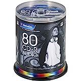 バーベイタムジャパン(Verbatim Japan) 音楽用 CD-R 80分 100枚 ホワイトプリンタブル 48倍速 MUR80FP100SV2