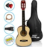 "Beginner 30"" Classical Acoustic Guitar - 6 String Linden Wood Traditional Style Guitar w/ Wood Fretboard, Case Bag, Nylon Str"