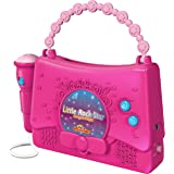 Kids Karaoke Machine for Girls - Little Rock Star Music Player - 10 Programmed Songs - iPod Holder - AUX Cable and Batteries