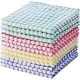 Kitchen Towels Bulk 100 Cotton Kitchen Dish-Cloths Scrubbing Dishcloths Sets 11x17 Inch 12pcs (Mix Color)