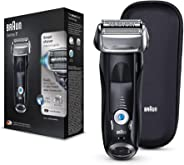Braun Series 7- S7 7842s Electric Shaver for Men, Wet and Dry, Integrated Precision Trimmer, Rechargeable and Cordless Razor with Travel Case, Black
