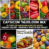 Capsicum Heirloom Mix 20+ Seeds Rainbow Spring Summer Vegetable Garden Pepper