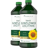 Sunflower Lecithin Liquid 16 oz Oil | 2 Pack | Vegan, Vegetarian, Non-GMO, Soy Free, Gluten Free | by Carlyle