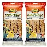 Higgins 2 Pack 6 Count Millet Spray Birds 2 Bags Total, Fun Tasty Bird Treats Bird Snacks