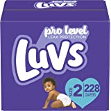 Luvs Ultra Leakguards Disposable Baby Diapers, Size 2, 228Count, ONE MONTH SUPPLY (Packaging May Vary)