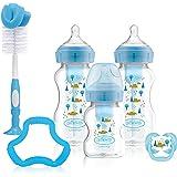 Dr Brown's Wide Neck Options+ Blue Gift Set, Blue