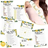 Lemon Bridal Shower Game with Bride to Be Sash-Set of 6 Activities Lemonade Bridal Shower Bachelorette Before Wedding Game fo
