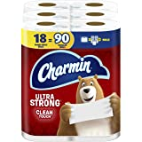 Charmin Ultra Strong Clean Touch Toilet Paper, Family Mega Rolls (Equal to 90 Regular Rolls), 18 Count