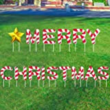 changsha 15 Pcs Christmas Yard Signs with Stakes, Colorful Lawn Merry Christmas Decorations Outdoor with Stake Christmas Part